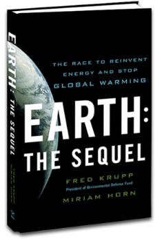 """The cover of Fred Krupp and Miriam Horn's book """"Earth: The Sequel"""""""