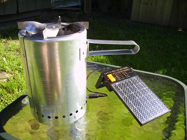 Woodgas camp stove