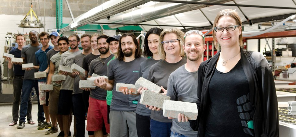 BioMason makes emissions free bricks