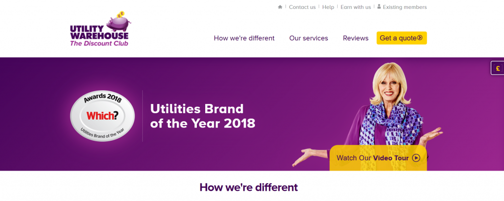 Utility Warehouse screenshot