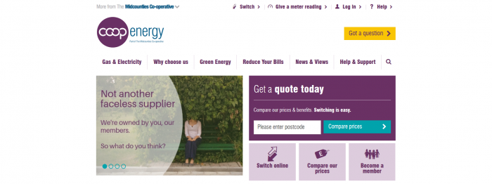 Co-operative Energy Screenshot