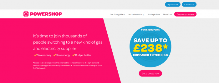 Powershop UK screenshot