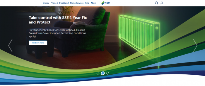 SSE Business energy screenshot